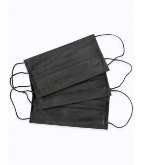 Маски медицинские трехслойные 10шт. цвет черный