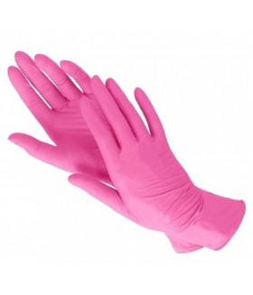 Перчатки нитриловые M розовые KLEVER 50 пар