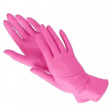 Перчатки нитриловые S розовые KLEVER 50 пар