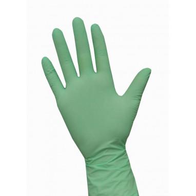 Перчатки нитриловые 10 пар/уп. зеленые