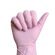 Перчатки нитриловые 10 пар/уп. розовые