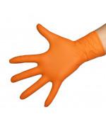 Перчатки нитриловые Benovy 50 пар, цвет оранжевый