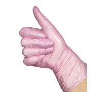 Перчатки нитриловые перламутровые 10 пар, цвет розовый