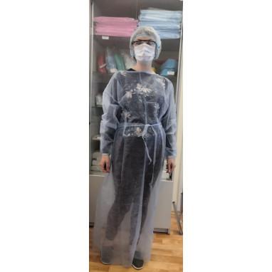 Халат защитный (рукава на резинках) размер XXL
