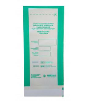 Пакет 100х200 для паровой и воздушной стерилизации  (100шт.)