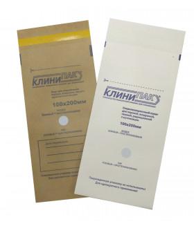 Пакеты бумажные для стерилизации КЛИНИПАК 100х200 мм 100 шт./уп.