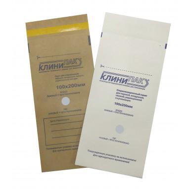 Пакет 100х200 мм бумажный для стерилизации КЛИНИПАК  100 шт./уп.