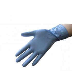 Перчатки нитриловые, цвет голубой