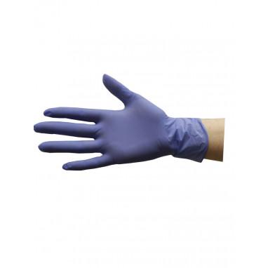 Перчатки нитриловые 10 пар/уп. фиолетовые