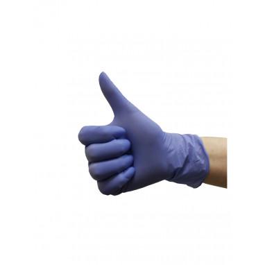 Перчатки нитриловые L фиолетовые KLEVER 50 пар