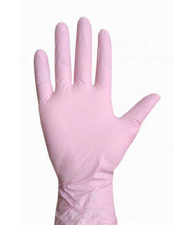Перчатки нитриловые NitriMax 50 пар, цвет розовый