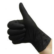 Перчатки нитриловые S  NitriMax уп./50 пар чёрные