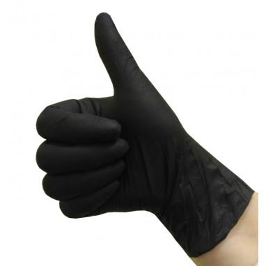 Перчатки нитриловые уп./50 пар чёрные