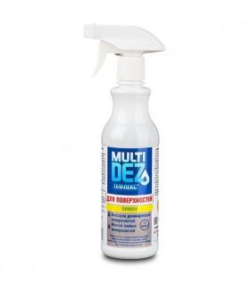 Мультидез-Тефлекс 0,5 л. для дезинфекции и мытья поверхностей с отдушкой ЛИМОН (триггер)