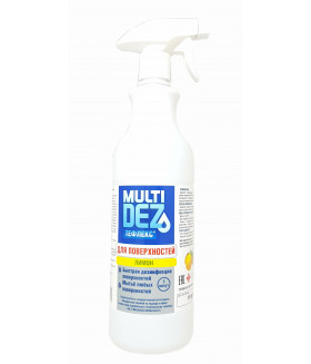 Мультидез-Тефлекс для дезинфекции и мытья поверхностей с отдушкой ЛИМОН (триггер) 1л