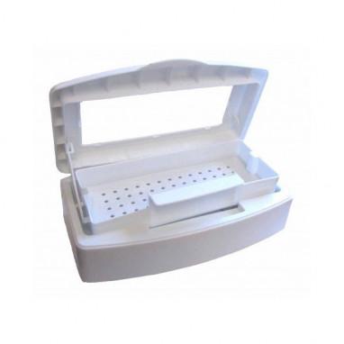 Контейнер для дезинфекции инструментов 0,5л. с прозрачной крышкой